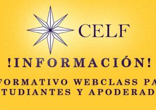 Informativo WEBCLASS para estudiantes y apoderados